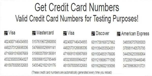 credit card validators or Checker and Generatros  Tarjetas