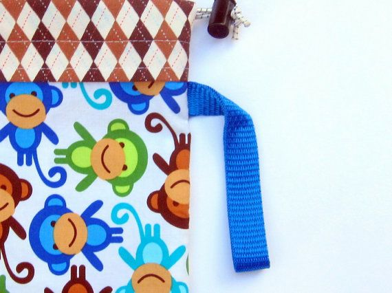How to store your baby carrier. Cute, functional storage for babywearing. Baby carrier bag by Red Charlotte. Royal Monkeys. Fits ERGObaby.