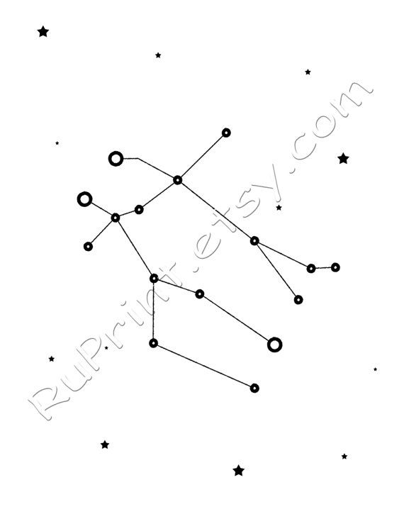picture about Constellation Printable identify Gemini constallation artwork, Zodiac Gemini print, Printable
