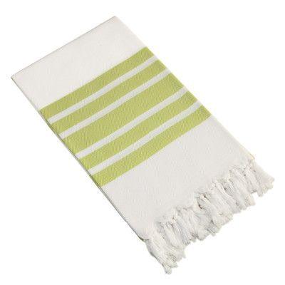 Linum Home Textiles Herringbone Pestemal Beach Towel Color: Pistachio