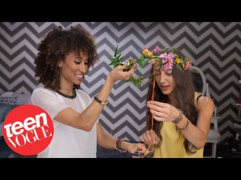 How to Make a Flower Crown - 3 Steps to - Teen Vogue, My Crafts and DIY Projects