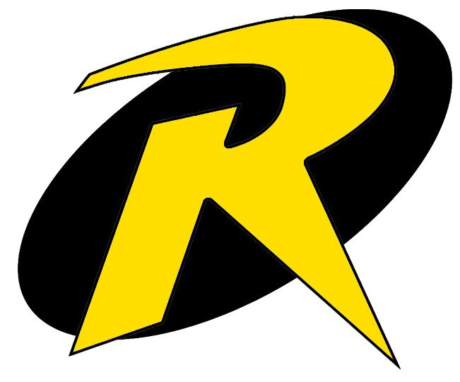 Superhero Symbols Save Both The Oval And The R The Faint Grey R