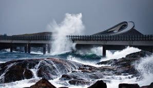 The Atlantic Road in Norway - spectacular in rain or shine - Photo: Steinar Melby