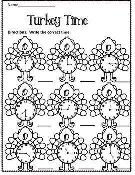 Free Turkey Time Thanksgiving Math Activities Thanksgiving Math Worksheets Thanksgiving Worksheets