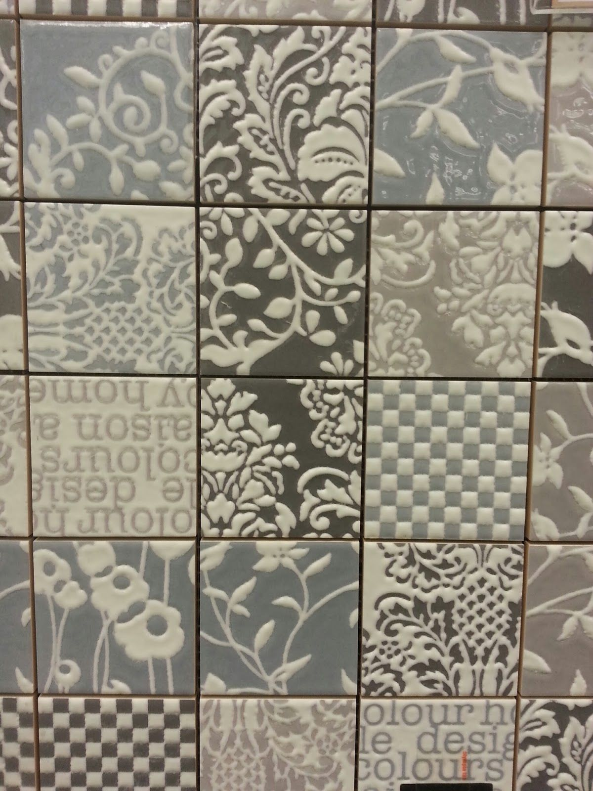 Patterned patchwork wall tiles decor pinterest for Bathroom ideas 9x6