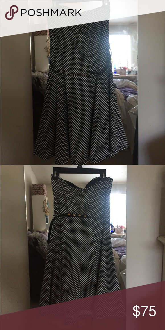 a6b05c1b8b Kimcine strapless dress Polkadot strapless dress worn once. Bra padding  inserts no bra needed. Dresses Mini