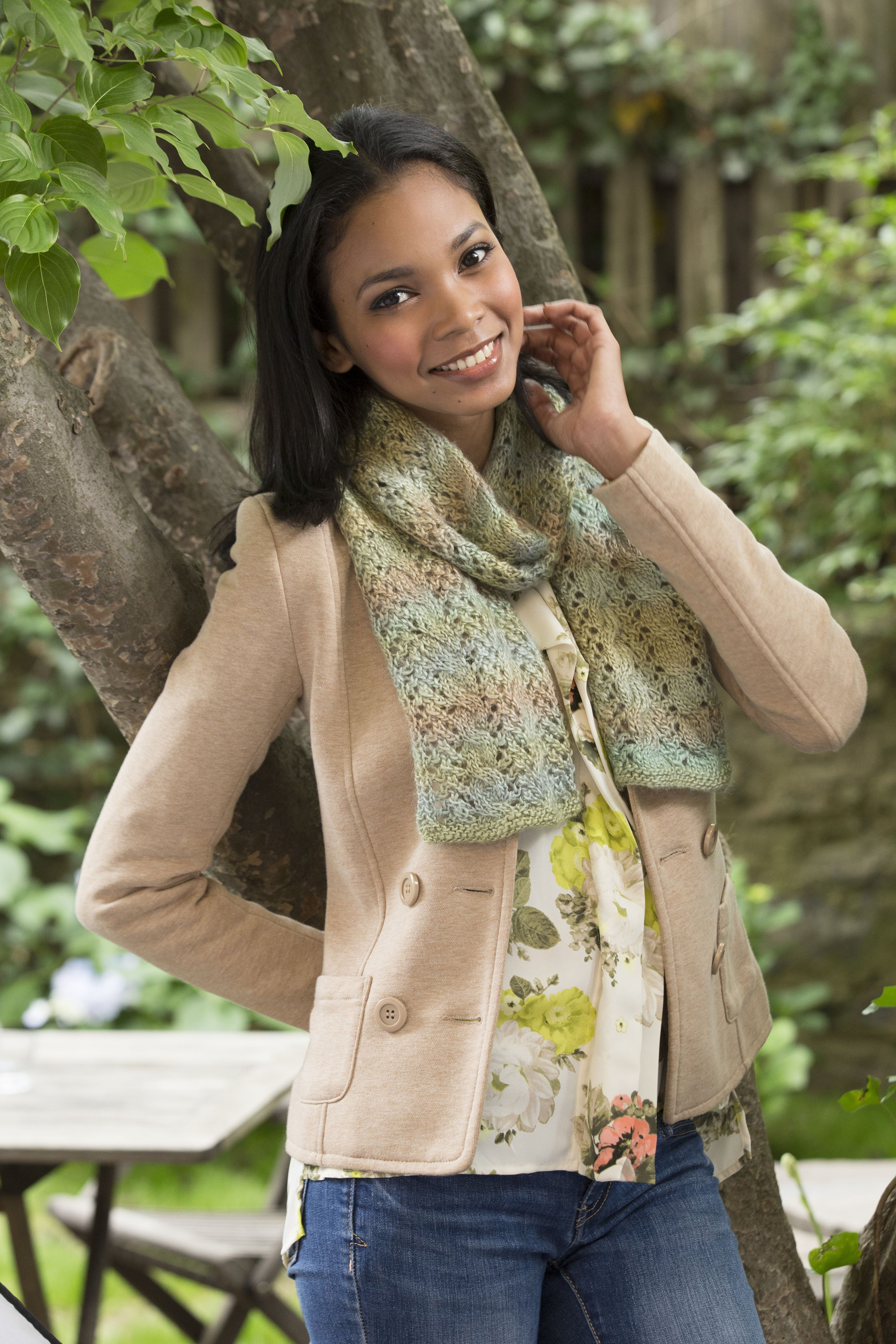 Cable and Lace Scarf Free Knitting Pattern in Red Heart Boutique ...