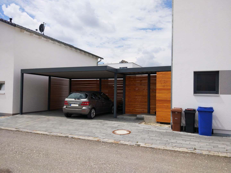 Garagen Gunstig Minimalist : Vordach glas holz hauseingang modern eingang edelstahl günstig