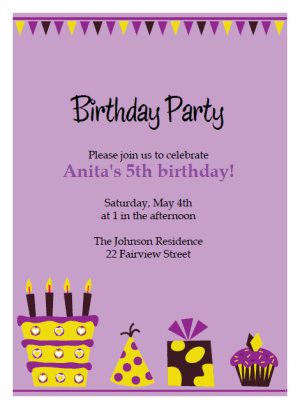 Purple birthday invitations template romeondinez purple birthday invitations template filmwisefo