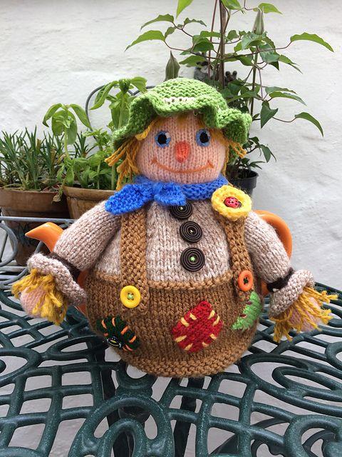Scarecrow Tea Cosy Pattern By Debi Birkin Yarn And Needles