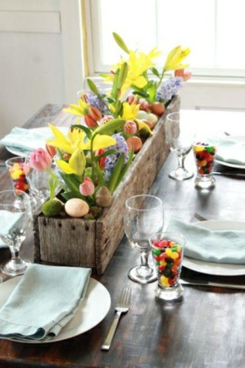 Tischdeko Zu Ostern Ostern Pinterest Pasqua Decorazione