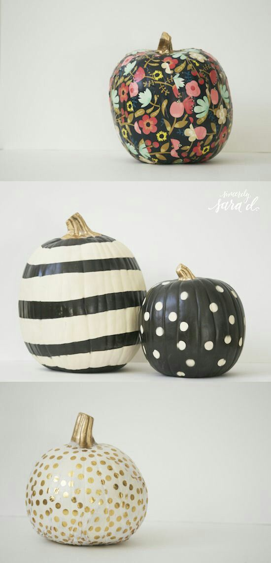 Pumpkin painting ideas, painted pumpkins, no carve pumpkins, diy - halloween pumpkin painting ideas