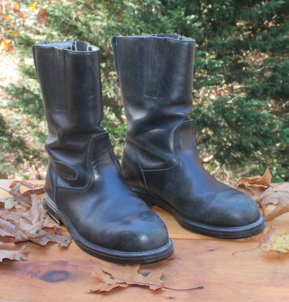Cruiserworks Slip on Motorcycle Boots Mens 10 Wide Leather Oil ...