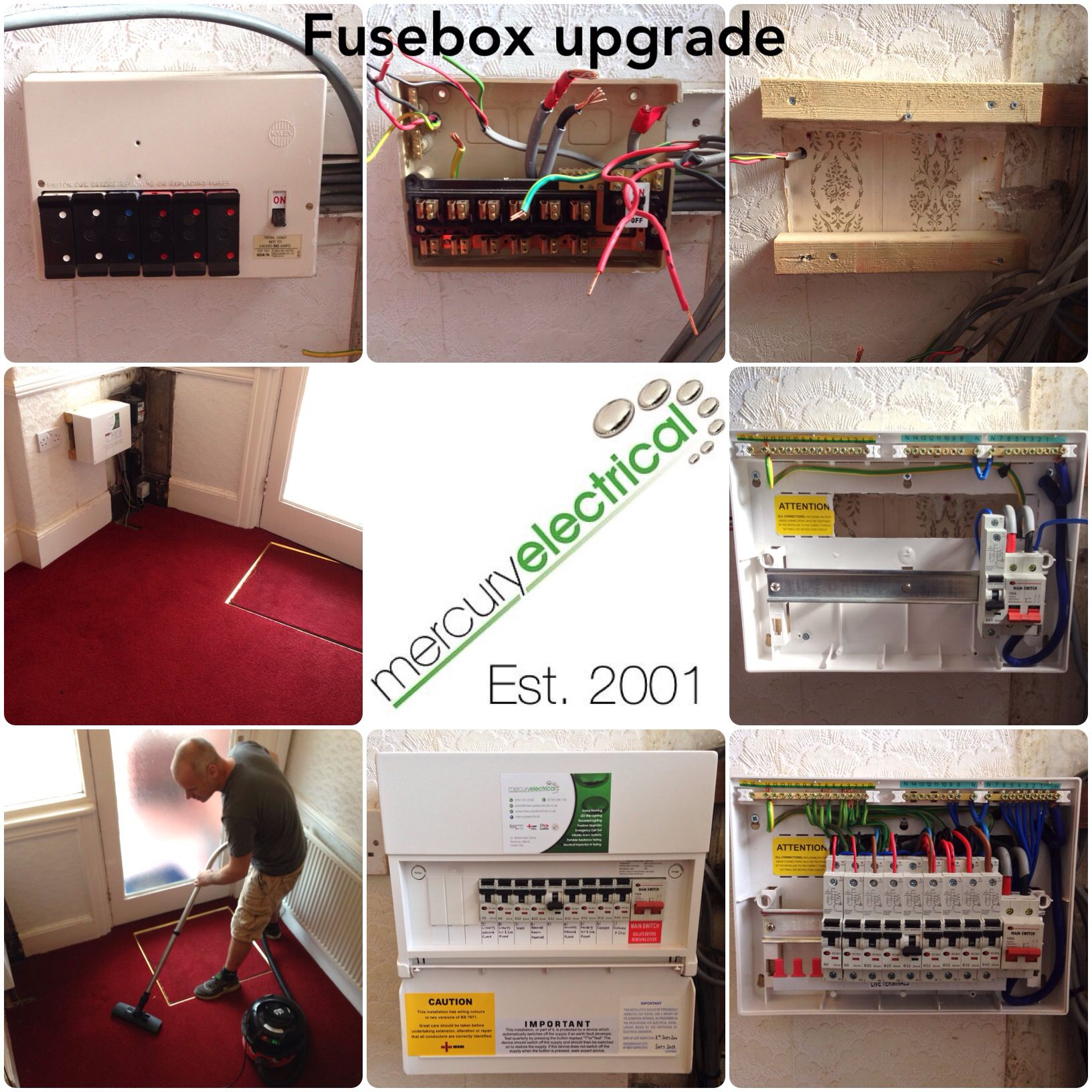 Replaced An Existing Fusebox With A Rcbo Consumer Unit And Made Fuse Box Collage