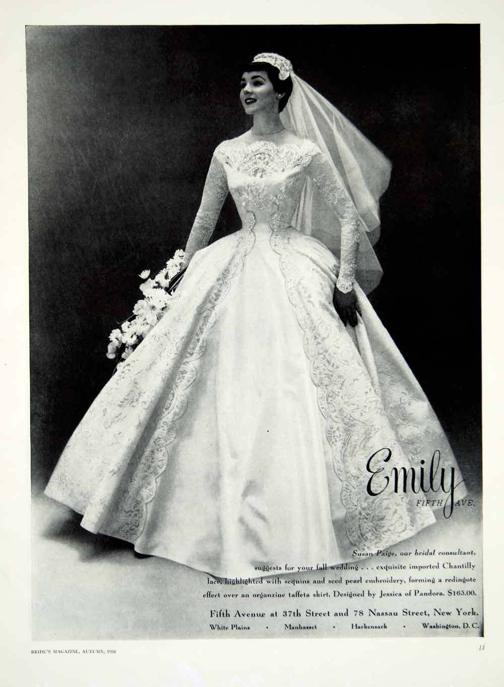 ad vintage taffeta wedding dress jessica pandora chantilly lace