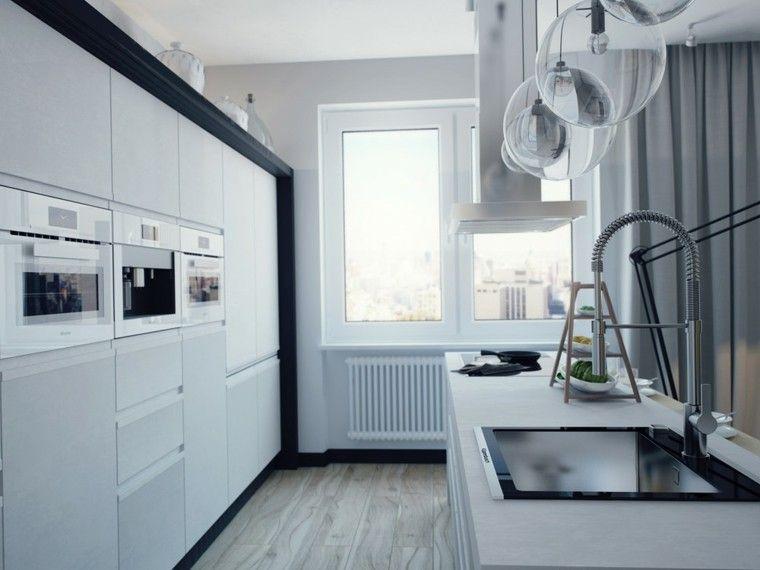 Entwerfen Sie weiße Küchen und Modernität in 50 Ideen