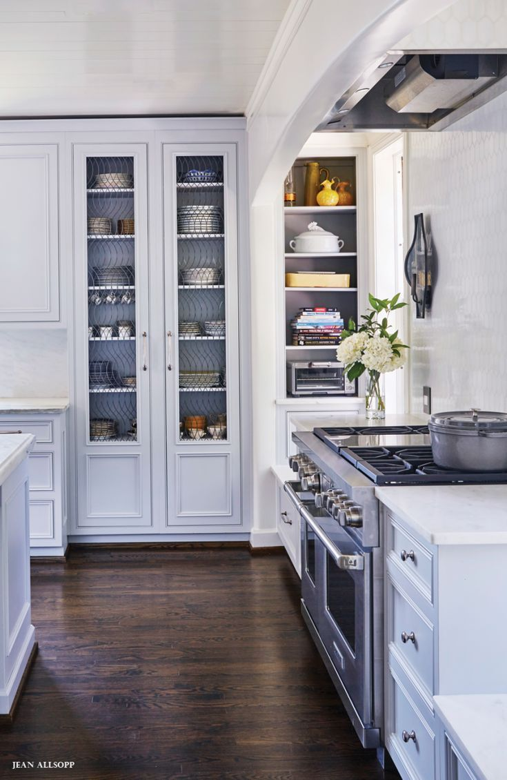 Builtin storage cabinet kitchen design frenchkitchendesign