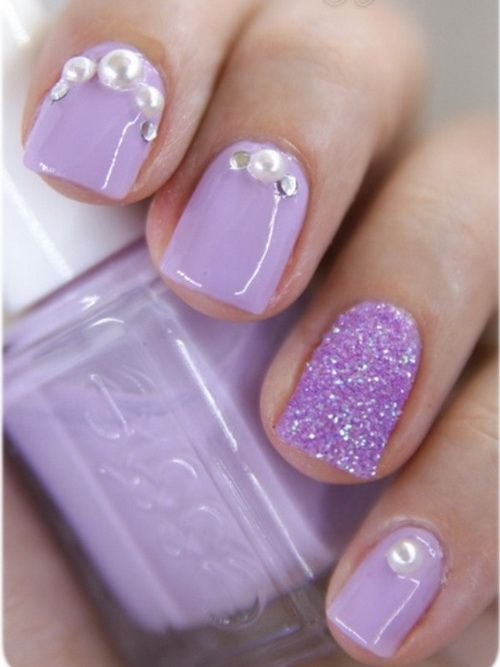 Soft Pink Purple Nail Designs 2014