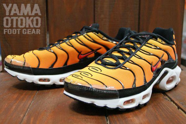 buy popular 62745 ac27f Nike Air Max Plus Tour Yellow Team Orange Black | Crop Tops ...
