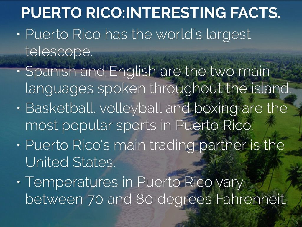 Info About Puerto Rico For Preschoolers