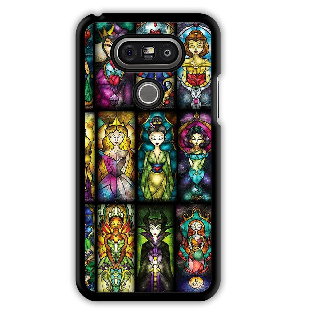 buy popular 4ebe6 e1c60 All Princess Disney Stained Glass LG G5 Case   Products   Disney ...