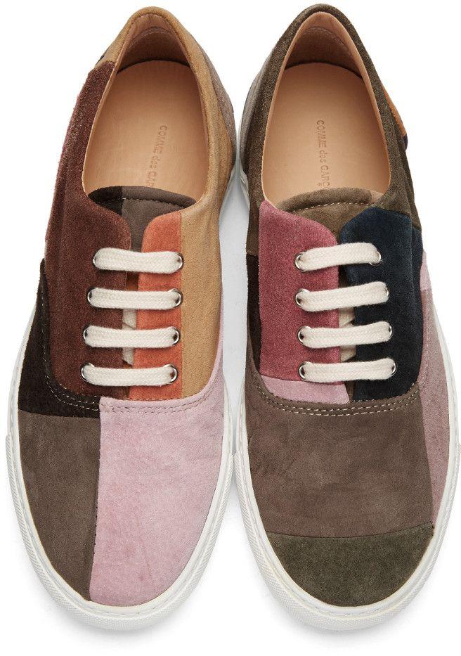 5dcaaf7261ad Comme des Garçons Shirt Shoes Men s - Multicolor Suede Patchwork Sneakers