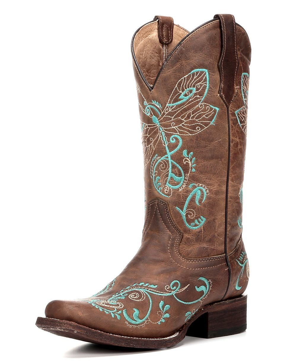 Corral/'s Circle G Dragonfly Boot