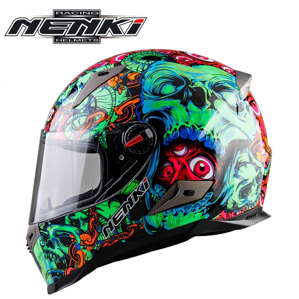 a4b90e404fe comprar Nenki motocicleta Cascos motocross Racing casco moto completa Cara  capacete de moto para hombres y