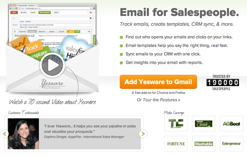 """A Big """"Yes"""" To Yesware Insanely Easy Email Tracking"""