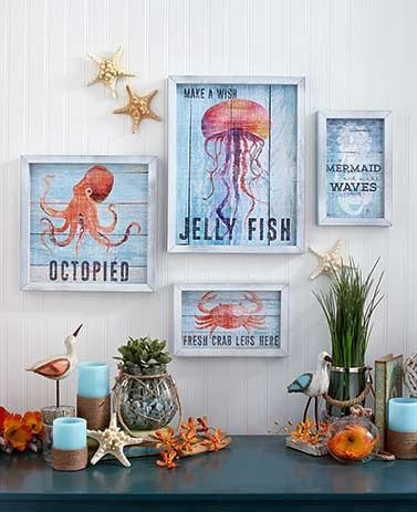 Wooden seaside wall art is home decor with a whimsical sense of style each playful