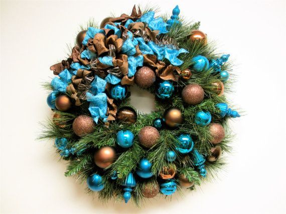 I LOVE These Colors! Christmas Wreath Bronze Brown And