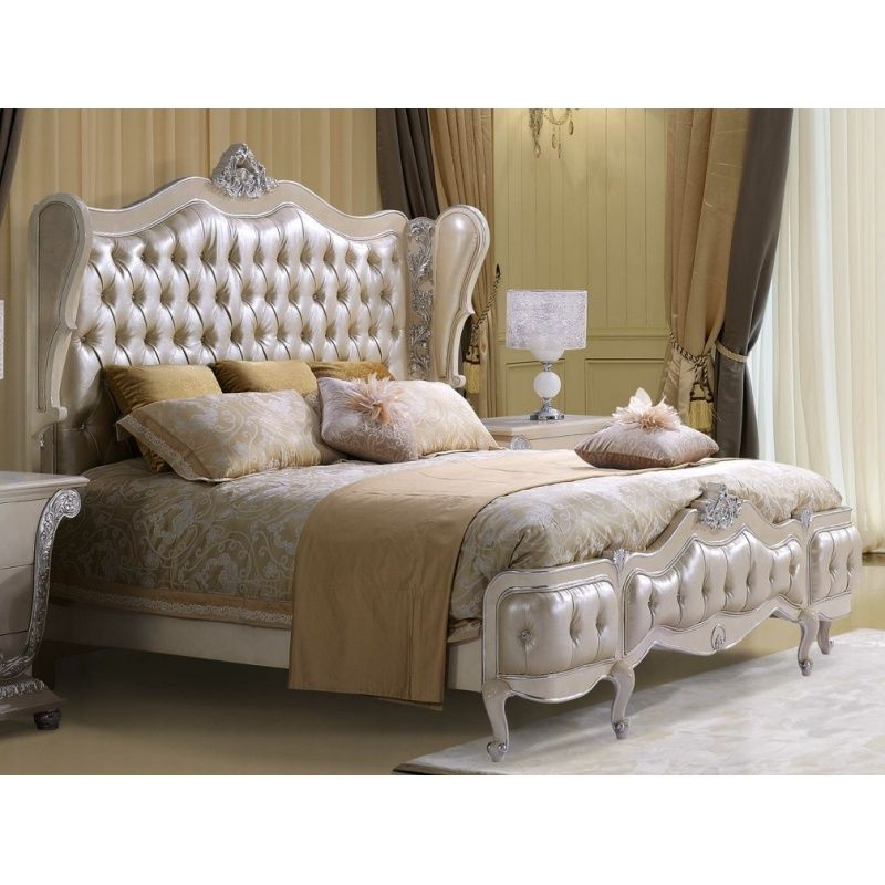 Decorative Headboards For Beds hds- victorian curved button tufted headboard with decorative trim
