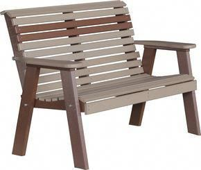 LuxCraft Rollback Recycled Plastic 4ft Bench # ...