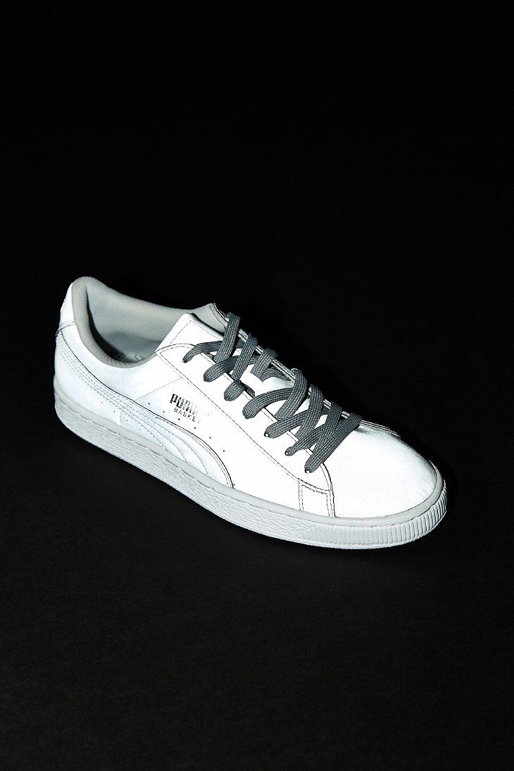 reputable site 3b951 f8d44 Puma Basket Reflective Sneaker - Urban Outfitters Urban Outfitters,  Sneaker, Sneakers, Athletic Shoes