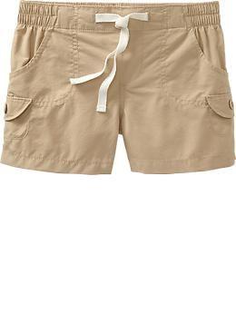 Girls Drawstring Khaki Shorts | Girl Scout ideas | Pinterest ...