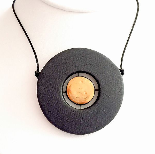 Floating disk pendant necklace by syra gomez ceramic necklace floating disc pendant necklace by syra gomez ceramic necklace available at artfulhome aloadofball Images