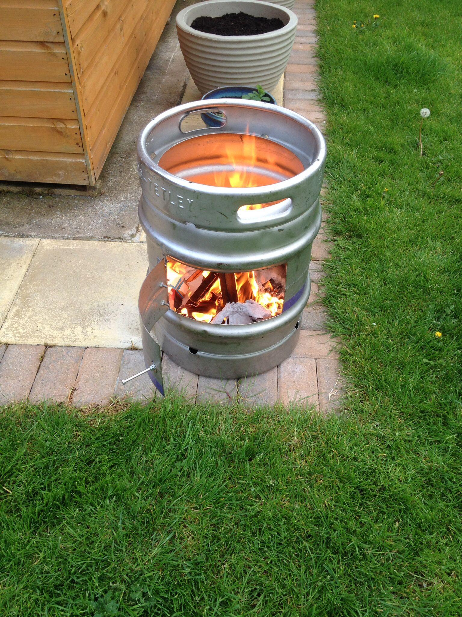 Beer barrel wood burner beer garden ideas beer barrel