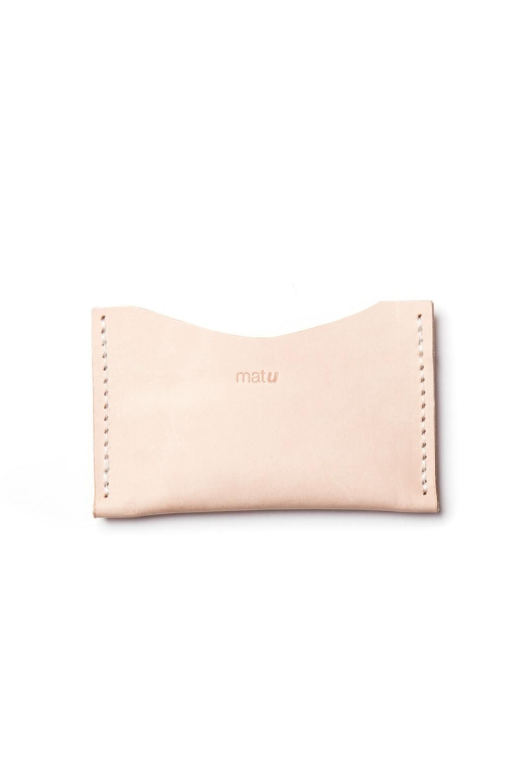 Matu leather card holder tan leather dark and leather next time you pull out a business card use this functional card holder the color of vegetable tanned leather will naturally age through the years and reheart Gallery
