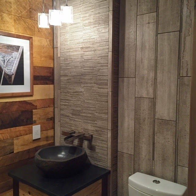 Bathroom Showroom Design Ideas: Legno Travertine Bath Designed By Our Independence, MO