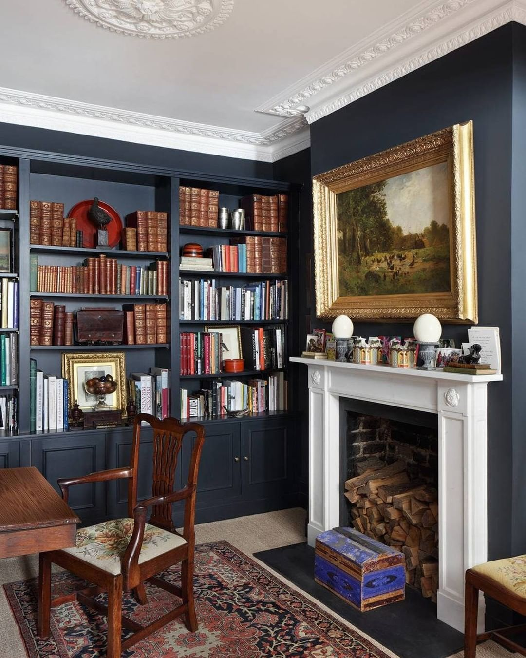 House Garden Magazine On Instagram It Was The Classic Example Of The Worst House On A Good English Living Rooms Living Room Bookcase Victorian Living Room