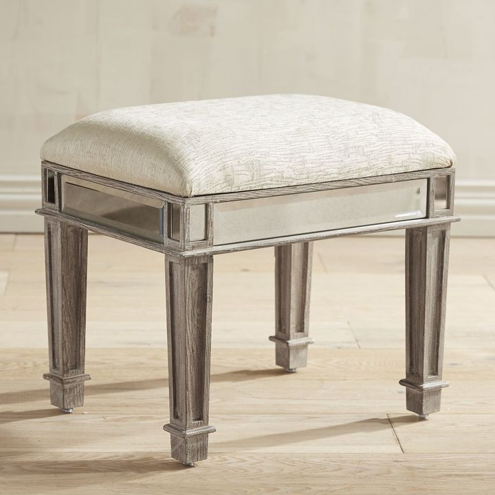 Marvelous Hayworth Weathered Oak Vanity Bench In 2019 House Vanity Caraccident5 Cool Chair Designs And Ideas Caraccident5Info