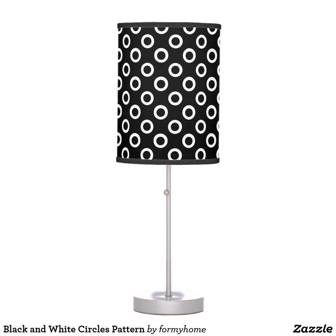Black and White Circles Pattern Desk Lamp lamp