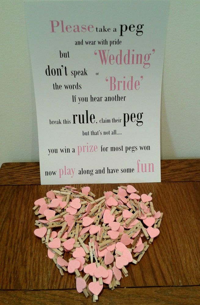 wedding peg table game fun game for wedding bridal shower hen party