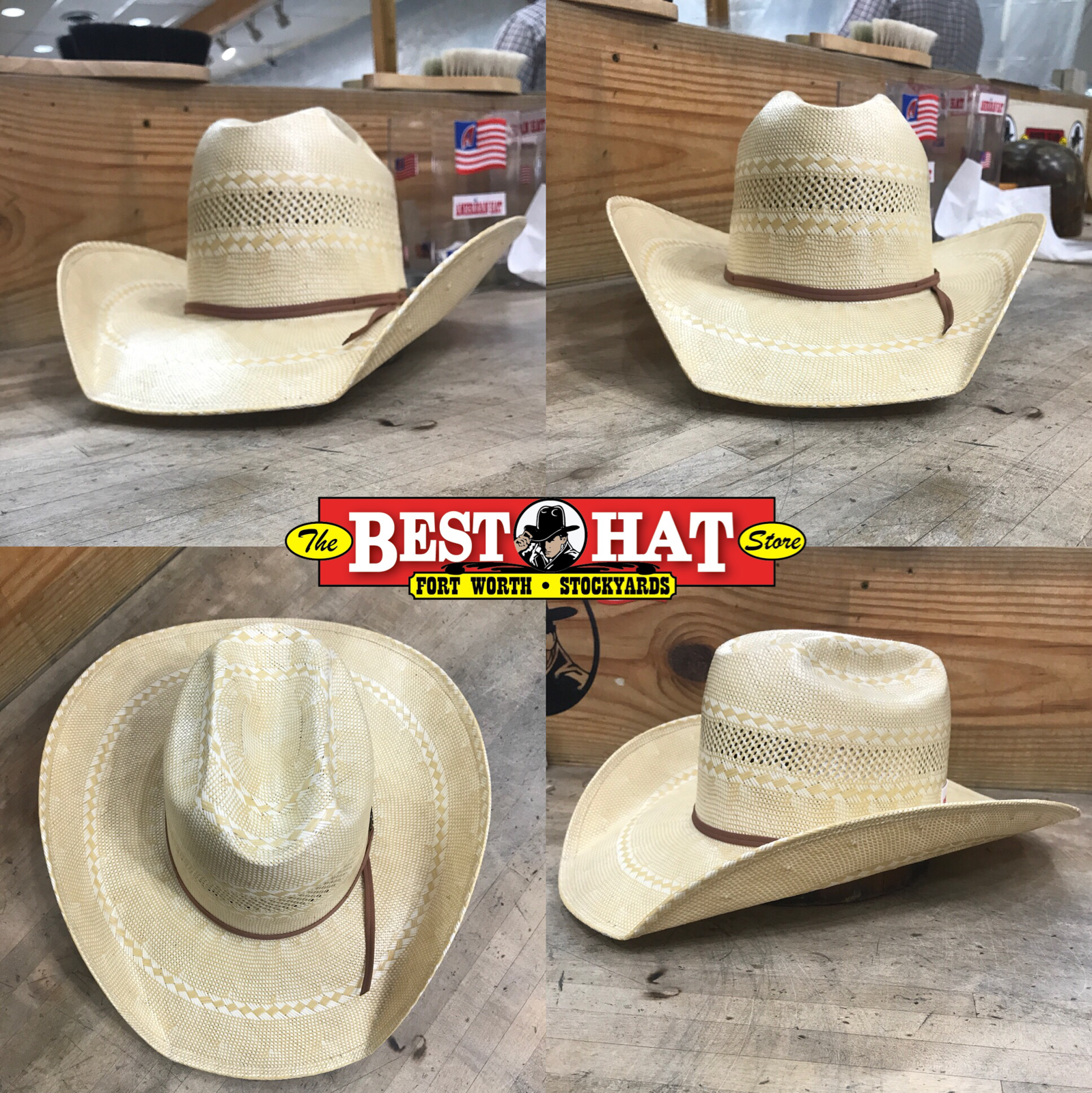 "8f0c71616a2168 American Hat company style 1088, 4"" brim, cattleman shape, and U brim"