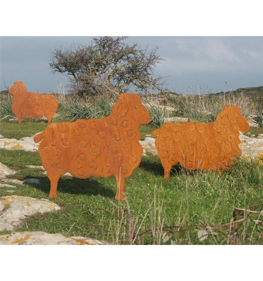 Edelrost Schaf Zum Stecken 56 X 70 Cm Rostdeko Vom Metallmichl Metallmichl Schafe Garten Deko