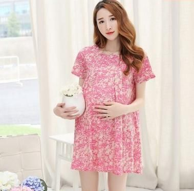 Maternity dress 2017 summer  Korea new  fashion large size cotton  Maternity clothes  SH-1528 #Affiliate