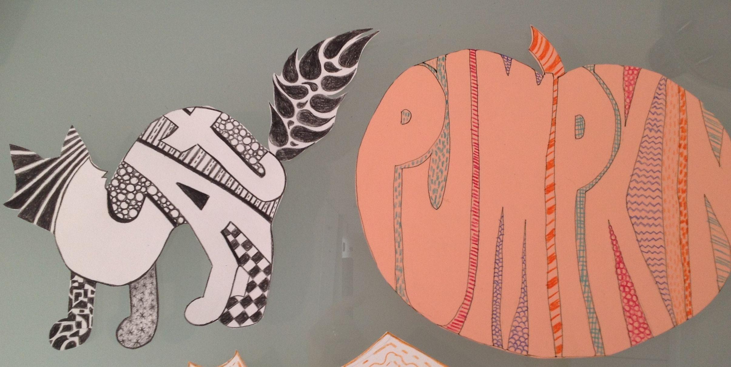 Word Art Cat Pumpkin