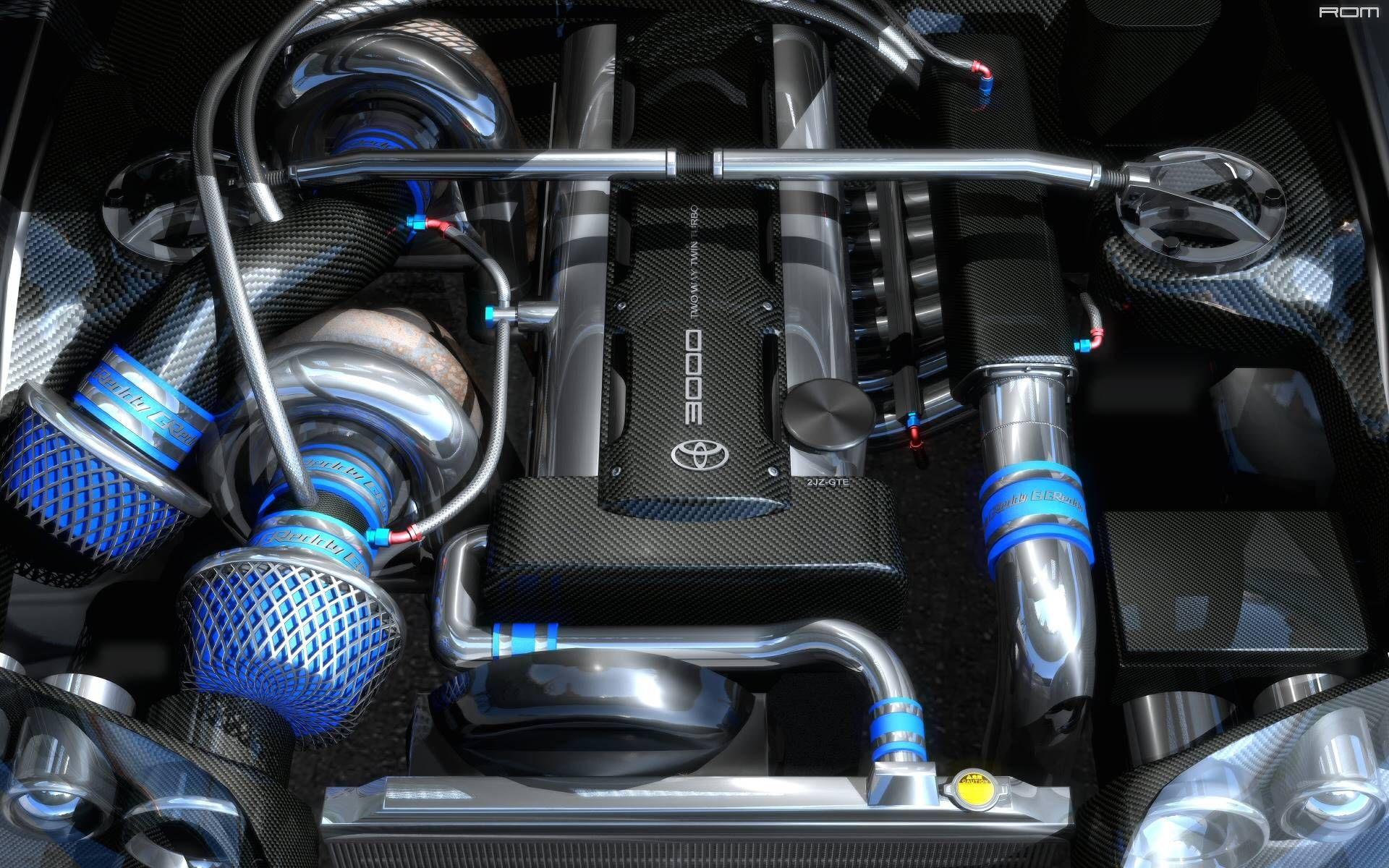 Twin Turbo Toyota Supra Engine (2JZ) (1920x1200) love