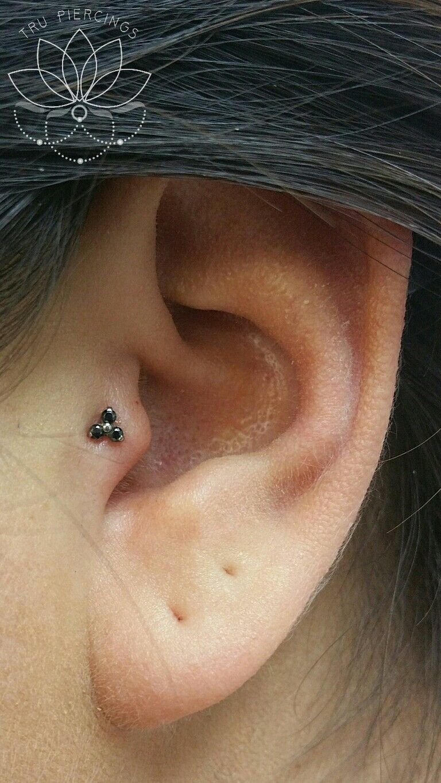 Orbital piercing ideas  Tragus piercing with jewelry from Neometal  Ear Piercings by Tru