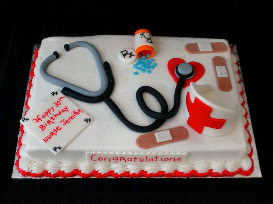 Birthday Cake Images For Doctors : Nurse s Birthday Cake Cake---Doctors/Dentist/Nurses/EMT ...